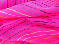 Mexican Fabric Cambaya By the Yard Hot Pink and StripesTela Mexicana Fuchsia