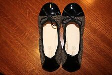 Primigi Patricia-E Ballet Flat Beige-Nero Tweed and Patent 36 eu Christmas  Gold