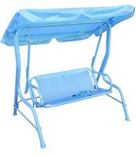 Kinder Draußen und Drinnen Swing Stuhl Hängematte Haube Zwei Sitzer Blau