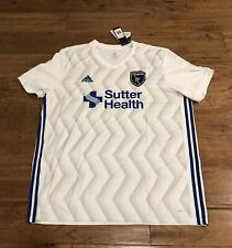 Adidas San Jose Earthquakes White 2019 Replica Secondary Blank Jersey 2XL CE6289