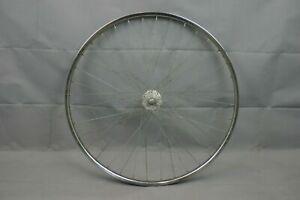 "Vintage Schwinn 26"" Front Bike Wheel 29mm Steel Clincher France Made USA Charity"
