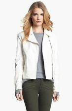 TRUTH & PRIDE 'BEEKMAN' WINTER WHITE LEATHER JACKET COAT sz L
