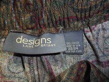 Women's Design Lane Bryant Paisley Pattern Full Skirt (100% Rayon) Size 22/24