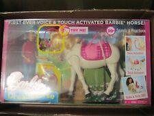 Barbie Dream Horse Voice & Touch Activated Walks & Turn 360 Deg. + Barbie