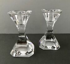 Pair 2 VILLEROY & BOCH 4-inch Crystal COCKTAIL CLUB Candle Holders 1987 design