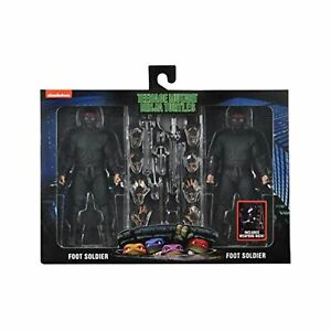 "NECA TMNT 1990 Movie Foot Soldiers & Weapons Rack 7"" Action Figure 2 Pack"