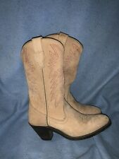 Masterson COWGIRL COWBOY WESTERN BOOTS Women Size 7M Tan Brown RB7477 Very Good