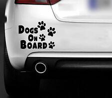 Dogs On Board  Car Bumper Window Sticker Decal  CAR 4X4 VAN Animal lovers puppy