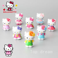 8X Hello Kitty Various Characters Action Figures PVC Cake Toppers Toy Doll 6CM