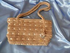 The SAK Small Beige Crochet Handbag *NWOT