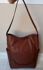 NWT FRYE Leather Side Pocket Hobo Shoulder Handbag Purse 34DB323 Cognac $348