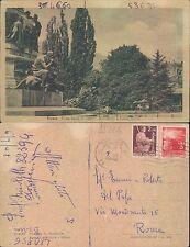 TRENTO - PIAZZA DANTE (DETTAGLIO)  - MON. A CESARE BATTISTI       (rif.fg.11226)