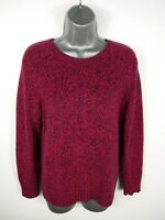 WOMENS H&M PINK/NAVY MARL LONG SLEEVED CASUAL CREW NECK JUMPER SIZE M MEDIUM