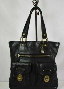 COACH Gigi Black Vachetta Leather Tote Leather Handbag 11131 65th Anniversary