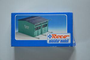 """Roco 1578 1:87 / H0 Fahrzeughalle / Garage """"Schwarz Bau"""""""