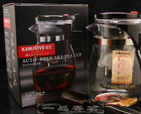 700ml 24oz Kamjove TP-757 Glass Gongfu Tea Maker Press Art Cup Teapot Infuser