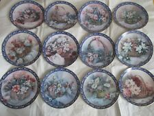 Ws George Lena Liu's Basket Bouquets Set Of 12 Collector Plate Bradford Exhange