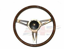 "New 15"" Laminated Wood Steering Wheel and Hub Adaptor Triumph TR4 TR250 TR6"