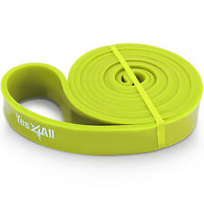 "Resistance Band Loop Stretch Power Weight Lifting 5/6"" Lime Green - ²4"