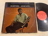 Miles Davis Milestones LP Columbia Stereo 2 Eye Demo Stamp John Coltrane GD