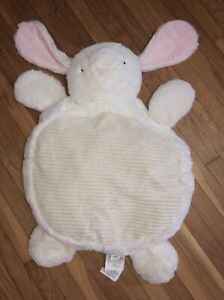 BABY MATS plush Soft LG Kellytoy Lay on Me White Bunny Rabbit Floor Fun