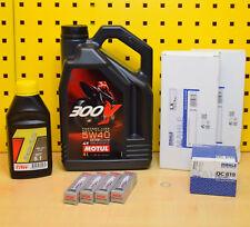 BMW K 1200S 05-08 MANTENIMIENTO Kit Aceite Bujías Filtro de aire MOTUL 300v 5w40