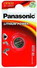 1 batteria pila 1632 CR1632 CR 1632 panasonic 3V LITIO LITHIUM DL1632 BR1632