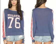 Wildfox Red White Blue Stars Long Sleeve Top Size Xs Glow In The Dark