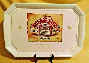 ANHEUSER BUSCH TRAY BUDWEISER 1876 1976 SALES CONVENTION 100 YR WAVERLY PRODUCT.