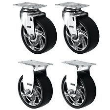 """Tool Box Swivel/Fixed Replacement Wheels, 4-Pack (125MM/5"""")"""