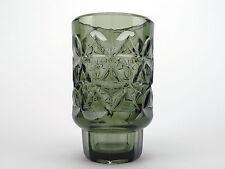 Jan Sylvester Drost - Smokey grey / green glass vase for Zabkowicze glassworks