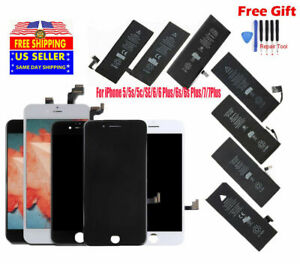 Lot LCD Screen Digitizer Assembly & Battery Replacement for iPhone 5s 6 6S 7P 8+