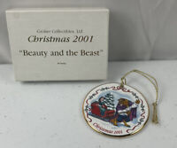 Disney Christmas 2001 Beauty And The Beast Ornament Grolier Collectibles