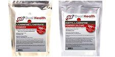 L-Carnitine & ALCAR (100g (3.5oz) Each Bag) Powder Diet Weight Loss Energy
