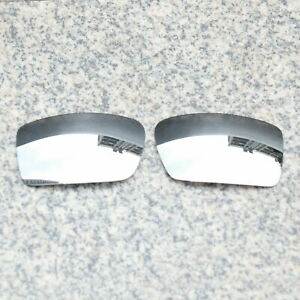 RAWD Silver Mirrored Replacement Lenses for-Oakley Gascan Sunglasses POLARIZED