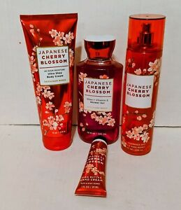 Bath Body Works Japanese Cherry Blossom 4 PC Gift Bag Set * New