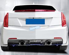 For 2014-2018 Cadillac ATS ABS BLACK Rear Bumper Diffuser Lip Spoiler Factory3X
