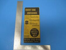 Vintage Radio Tube Handbook 600 Types Characteristics National Union Radio S1191