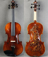 Vintage - Handcrafted Dragon Back 4/4 Violin w/Special Carved Scroll - Limited