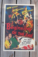 Beginning of the End Lobby Card Movie Poster Peter Graves - Peggie Castle