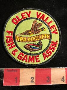 Vtg OLEY VALLEY FISH & GAME ASSN. National Rifle Assoc. NRA AFFILIATE Patch 03XF