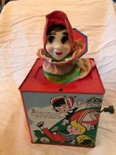 VINTAGE MOTHER GOOSE JACK IN THE BOX-GREAT CONDITION-TIN