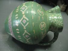 ART POTTERY  PITCHER  HAND  PAINTED SIGNED   DATED    VINTAGE  ORIGINAL  NICE