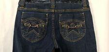 Metro 7 Women's Size 6 Dark Wash Embellished Pockets Stretch Cropped Capri Jeans