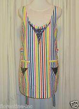 "GORGEOUS SASS&BIDE RAINBOW STRIPED SHIFT DRESS 38/2 (AUS 8/10) ""MY SIXTH SENSE"""