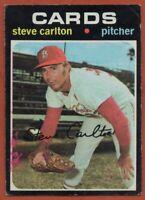1971 Topps #55 Steve Carlton LOW GRADE MARKED CREASE St. Louis Cardinals
