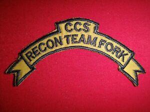 US 5th SFGrp MACV-SOG CCS RECON TEAM FORK Vietnam War Scroll Patch