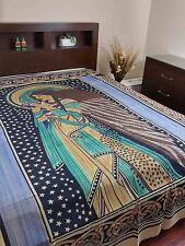 "Handmade Cotton Celtic Peace Angel Tapestry Tablecloth Coverlet Throw 88""x 106"""