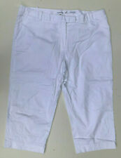 Calvin Klein Capri Pants White Stretch Chino Cotton LOOKS NEW Size 16 XL Womens