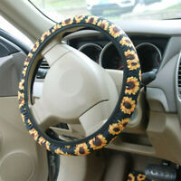 SUNFLOWER Car Steering Wheel Cover Steering Wheel Protection Anti-skid Universal